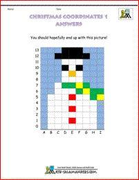 christmas fun math coordinates 1