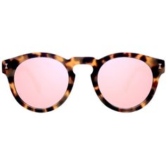 36b6730507b4a Pre-owned Illesteva Leonard Pink Mirrored Lens ( 164) ❤ liked on Polyvore  featuring