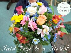 Florist for a Playdate!  Plus TONS of flower crafting ideas to follow up with!  The Educators' Spin On It