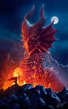 You can love a dragon; or you can slay a dragon; but you can never own a dragon, because a dragon owns you. (Marcus)