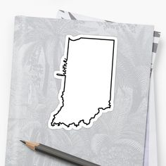 """Indiana Home Outline"" Stickers by ohioinspired 