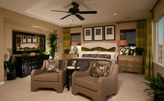 Master Bedroom who would of thought to put two dressers as night stands!!! I like that, multi purpose it <3