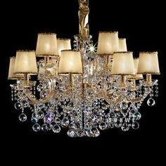 12 Lights Unique Bedroom Lamp Classic Bedroom Chandelier Lighting Chandelier  Crystal Chains C9319 85cm W X