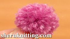 USING POMPOM MAKERS http://sheruknitting.com/videos-about-knitting/crochet-elements-and-projects/item/640-using-pompom-makers.html Tutorial 12 Method 4 of 8. Pompoms are so fun and easy to make. This video tutorial shows you easy steps how to make a mini pompom using an additional tools like a set of plastic rings for making pompoms and a yarn needle