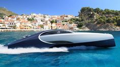 The Bugatti Niniette is a luxury yacht made of carbon fiber composite so it can really move. Bugatti said the yacht can reach a top speed of 44 knots. Yacht Design, Boat Design, Sport Yacht, Yacht Boat, Super Yachts, Bugatti Super Sport, Lexus Sport, Palmer Johnson Yachts, Deck Fire Pit