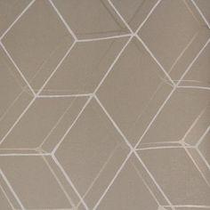 """Walls Republic Diamond Illusion 32.97"""" x 20.8"""" Geometric Wallpaper Color: Taupe"""
