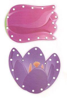 Borduurkaarten bloemen / Gabarit - Fleurs à lacer