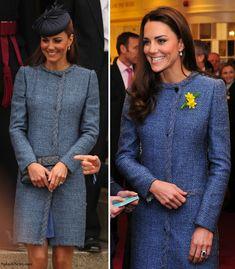 M Missoni blue tweed coat again  Jaegar 'Kate' bag  LK Bennett Art court shoes in black (not pictured)