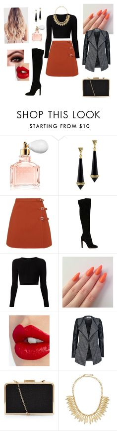"""""""Bad Romance"""" by claudsmarinho ❤ liked on Polyvore featuring Guerlain, House of Harlow 1960, Topshop, Gianvito Rossi, Cushnie Et Ochs, Charlotte Tilbury, ONLY, Jules Smith, women's clothing and women's fashion"""