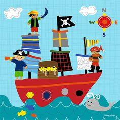 Pirate Ship Canvas Wall Art - Wall Sticker Outlet