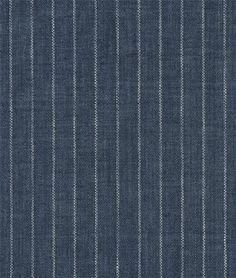 Shop Indigo Pinstripe Chambray Linen Fabric at onlinefabricstore.net for $24.55/ Yard. Best Price & Service.