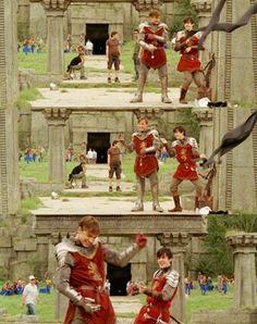 BTS Prince Caspian ~ Peter and Edmund dancing