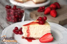 Ricetta cheesecake classica Ricotta, Sweet Cooking, Something Sweet, Creative Food, Cheesecakes, Cake Recipes, Yummy Food, Sweets, Baking