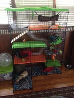 DIY Ferret Cage! this looks so fun and easy and our 2 boys would love this :)