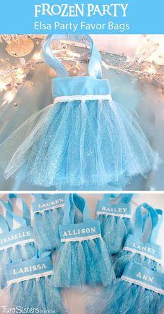 DIY Frozen Party Favor Bags.