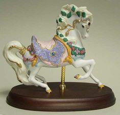 1997 Lenox 24K Accent Jeweled Prancer Carousel Horse
