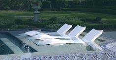 Ledge Lounger - modern - swimming pools and spas - houston - Ledge Lounger LLC