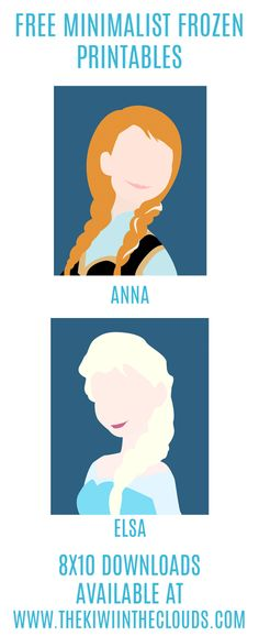 Frozen Inspired Bedroom + FREE Frozen Printables of Elsa and Anna