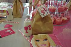Barbie decor and bottles