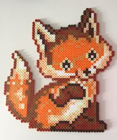 Baby Fox Perler Bead by PixelPrecious on Etsy