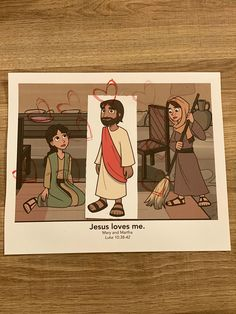 Sample for 2s week 2; Mary, Martha, and Jesus