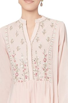 Blush cotton georgette tunic ANITA DONGRE