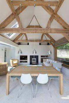 fabulous barn conversion style garden room by Border Oak MAISON EN