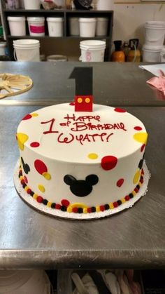 32 Great Picture of Mickey Mouse Birthday Cake . Mickey Mouse Birthday Cake A Festive First Birthday Cake Featuring A Mickey Mouse Fondant One Mickey Birthday Cakes, Mickey 1st Birthdays, Mickey Mouse First Birthday, Mickey Mouse Clubhouse Birthday Party, Mickey Cakes, 1st Birthday Cakes, Mickey Mouse Parties, Disney Parties, Birthday Boys