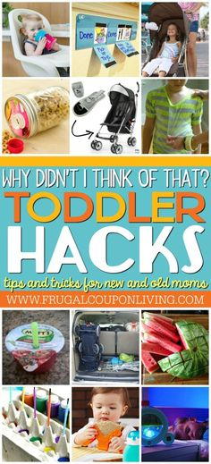Toddler Tips and Tricks. Hacks for new and old moms on Frugal Coupon Living. Toddler tricks and toddler ideas to make life more efficient for mom!