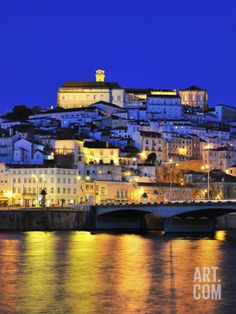 Coimbra and the Mondego River at Sunset. Portugal Photographic Print by Mauricio Abreu at Art.com