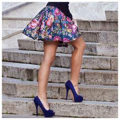 LoLoBu - Women look, Fashion and Style Ideas and Inspiration, Dress and Skirt Look Moda Fashion, Cute Fashion, Teen Fashion, Womens Fashion, Fashion Trends, Floral Fashion, College Fashion, Style Fashion, High Fashion