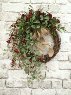 Red Floral Fall Wreath for Door, Fall Decor, Front Door Wreath, Autumn Wreath, Grapevine Wreath Wreath Crafts, Diy Wreath, Door Wreaths, Grapevine Wreath, Grapevine Christmas, Willow Wreath, Christmas Wreaths For Front Door, Tulle Wreath, Snowman Wreath