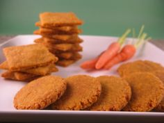 Homemade carrot cheddar crackers