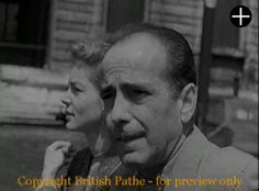Humphrey Bogart and Lauren Bacall in Venice, Italy, in 1951 (short video)