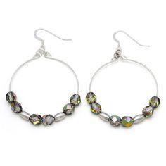 Prism Stargazer Earrings, Rafaelian Silver Finish