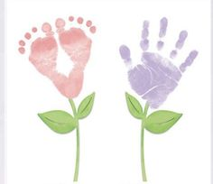 Hand and Foot Print Craft Ideas – Mama in GraceYou can find Foot prints and more on our website.Hand and Foot Print Craft Ideas – Mama in Grace Baby Handprint Crafts, Handprint Painting, Baby Painting, Footprint Crafts, Painting For Kids, Baby Footprint Art, Grandparents Day Crafts, Mothers Day Crafts For Kids, Fathers Day Crafts