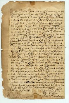 Colonial New York | 1692 Colonial New York Document Land Transfer