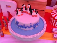 Penguins of Madagascar, birthday cake for my grandson Rodrigo Sologuren Villanueva. May/2014.