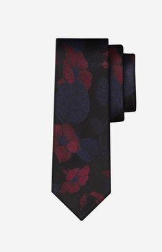 SSu Bordowy krawat LAMBERT - J2B6XJ9795