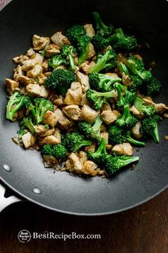 Low Fat, Low Carb and Healthy Chicken Breast and Asian broccoli stir fry recipe. This chicken recipe is easy, quick, made with boneless skinless chicken breast