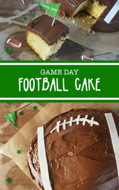 Kick off Game Day with this creative and easy Football Cake recipe. This Football Cake Recipe is perfect for your neighborhood Super Bowl party.