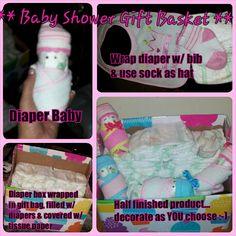 Baby Shower Gift basket idea
