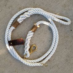 Perfect for when the bf gets a dog! Marine Grade Rope Leash