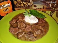 Recept na tento guláš je v rodine už mnoho rokov. Beef, Cooking, Food, Red Peppers, Kochen, Meat, Cucina, Essen, Ox