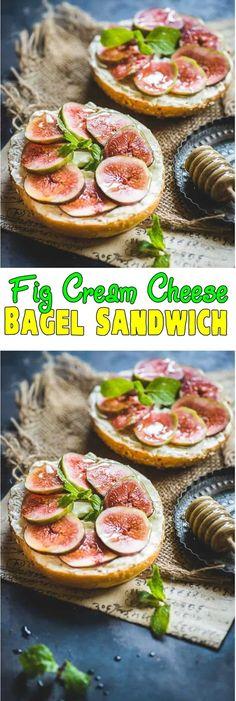 Fig Cream Cheese Bagel Sandwich Fig Cream Cheese Bagel Sandwich is a fast to make breakfast option. Beef Recipes, Cake Recipes, Chicken Recipes, Brunch Recipes, Breakfast Recipes, Bagel Breakfast Sandwich, Cheese Bagels, Slow Cooker Breakfast, How To Make Breakfast