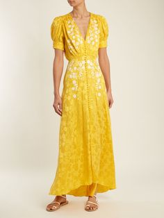 cab90d36af7f Click here to buy Saloni Lea embroidered floral-jacquard silk dress at  MATCHESFASHION.COM