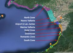 puerto vallarta zone map