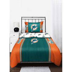 Nfl Miami Dolphins Twin Full Comforter