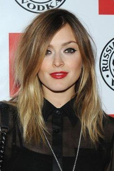 fearne cotton make-up and hair color
