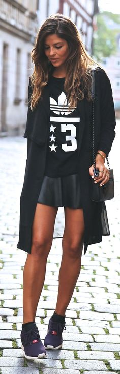Black And White Sporty Printed Sweatshirt by TrendyTaste